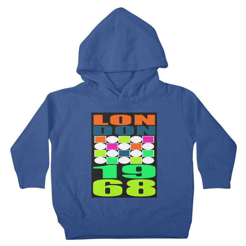 1968 LONDON Kids Toddler Pullover Hoody by THE ORANGE ZEROMAX STREET COUTURE