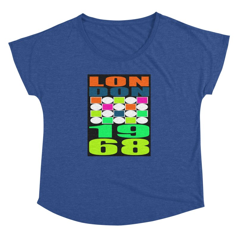 1968 LONDON Women's Dolman Scoop Neck by THE ORANGE ZEROMAX STREET COUTURE