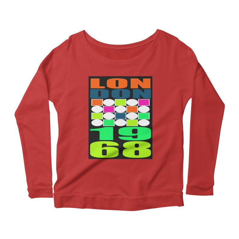 1968 LONDON Women's Scoop Neck Longsleeve T-Shirt by THE ORANGE ZEROMAX STREET COUTURE