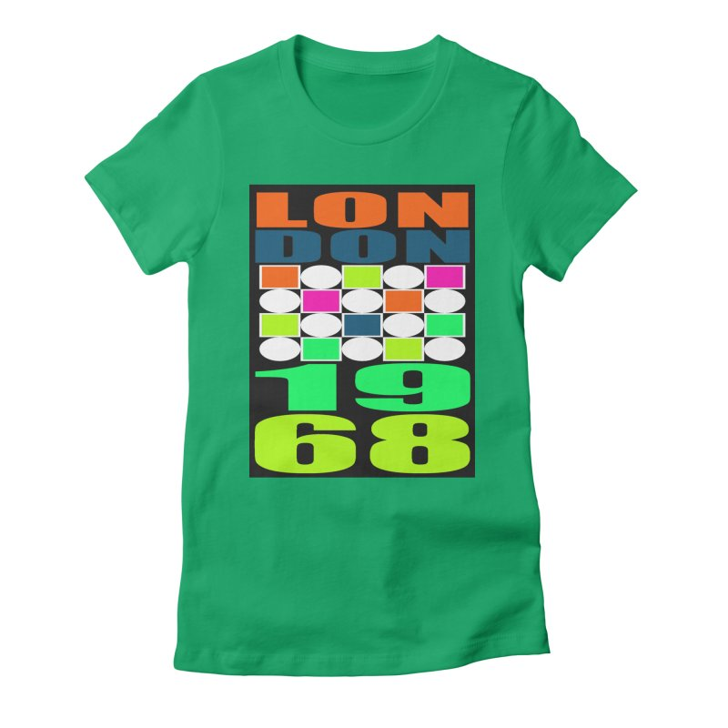 1968 LONDON Women's Fitted T-Shirt by THE ORANGE ZEROMAX STREET COUTURE