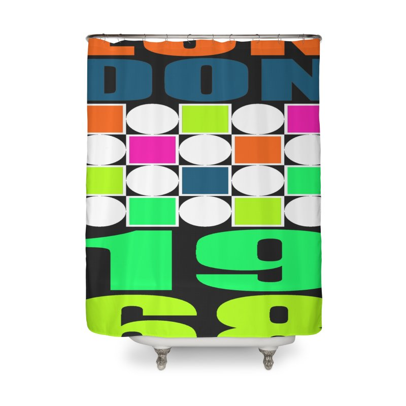 1968 LONDON Home Shower Curtain by THE ORANGE ZEROMAX STREET COUTURE
