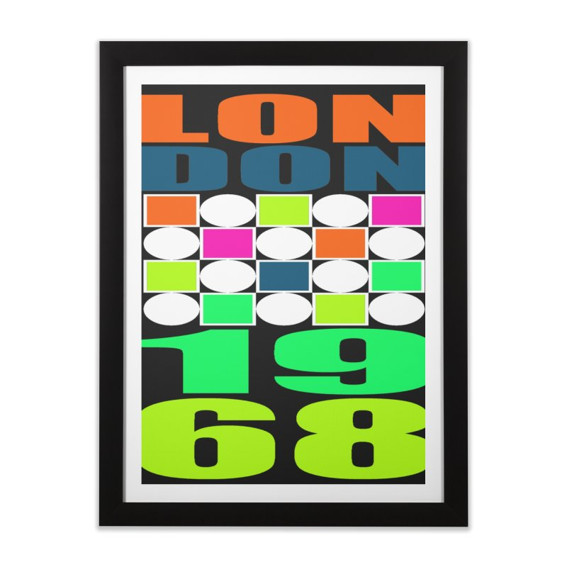 1968 LONDON Home Framed Fine Art Print by THE ORANGE ZEROMAX STREET COUTURE