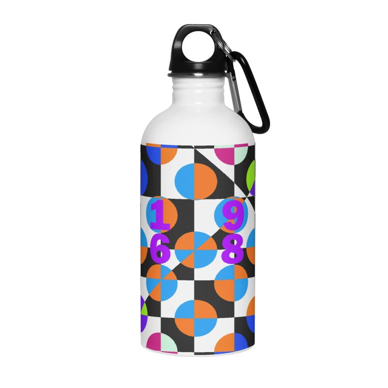 1968 POP DOTS 3 Accessories Water Bottle by THE ORANGE ZEROMAX STREET COUTURE