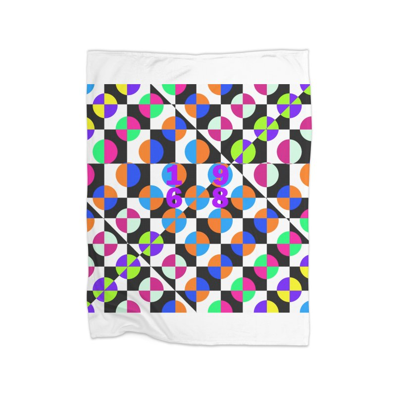 1968 POP DOTS 3 Home Blanket by THE ORANGE ZEROMAX STREET COUTURE
