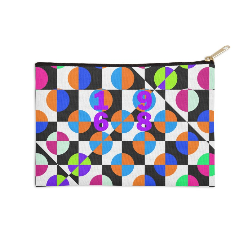 1968 POP DOTS 3 Accessories Zip Pouch by THE ORANGE ZEROMAX STREET COUTURE