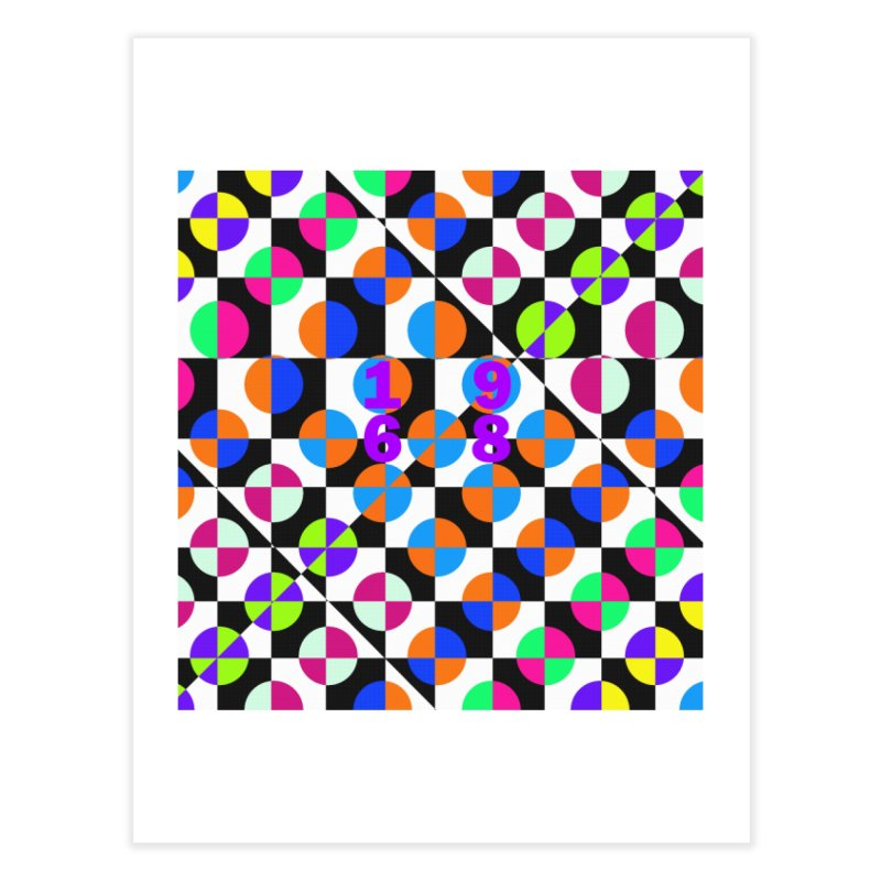 1968 POP DOTS 3 Home Fine Art Print by THE ORANGE ZEROMAX STREET COUTURE