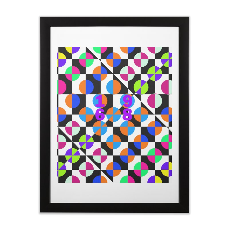 1968 POP DOTS 3 Home Framed Fine Art Print by THE ORANGE ZEROMAX STREET COUTURE
