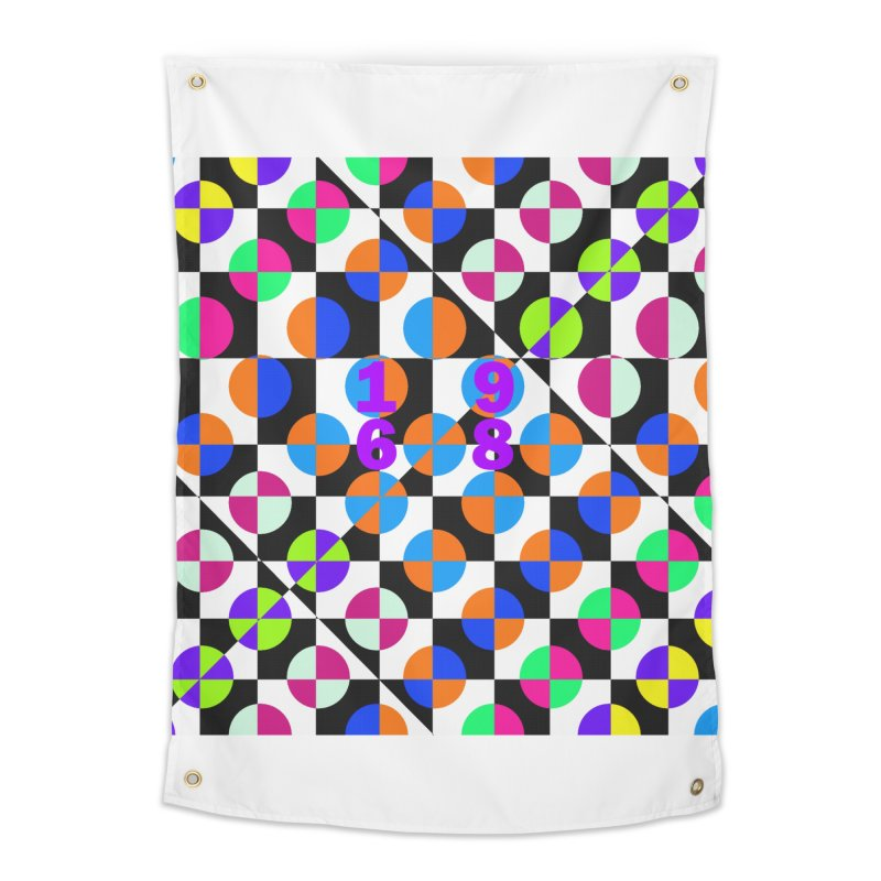 1968 POP DOTS 3 Home Tapestry by THE ORANGE ZEROMAX STREET COUTURE
