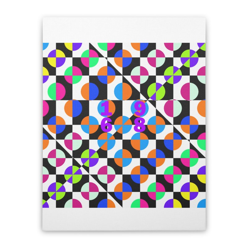 1968 POP DOTS 3 Home Stretched Canvas by THE ORANGE ZEROMAX STREET COUTURE