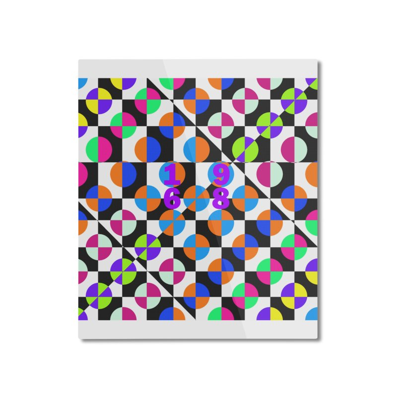 1968 POP DOTS 3 Home Mounted Aluminum Print by THE ORANGE ZEROMAX STREET COUTURE