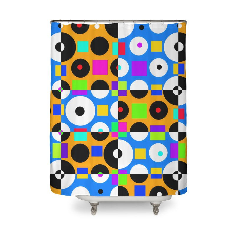 1968 POP DOTS 4 Home Shower Curtain by THE ORANGE ZEROMAX STREET COUTURE