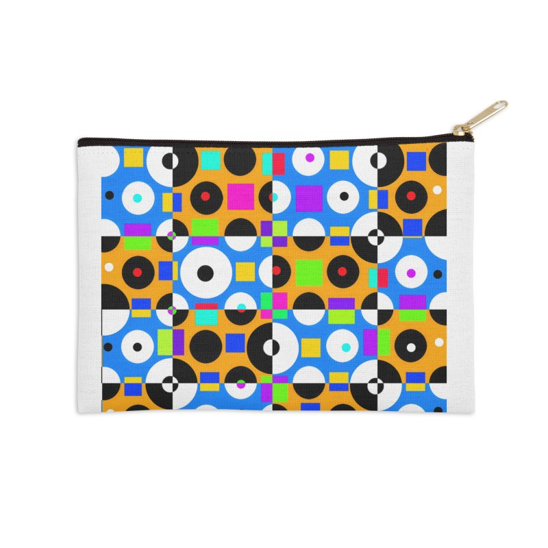 1968 POP DOTS 4 Accessories Zip Pouch by THE ORANGE ZEROMAX STREET COUTURE