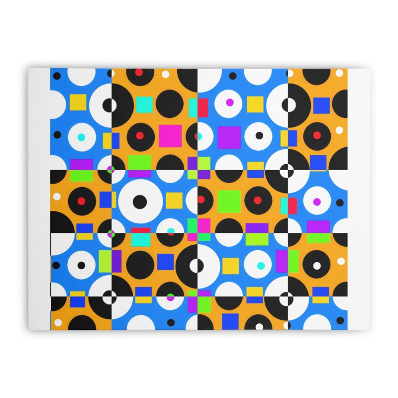 1968 POP DOTS 4 Home Stretched Canvas by THE ORANGE ZEROMAX STREET COUTURE