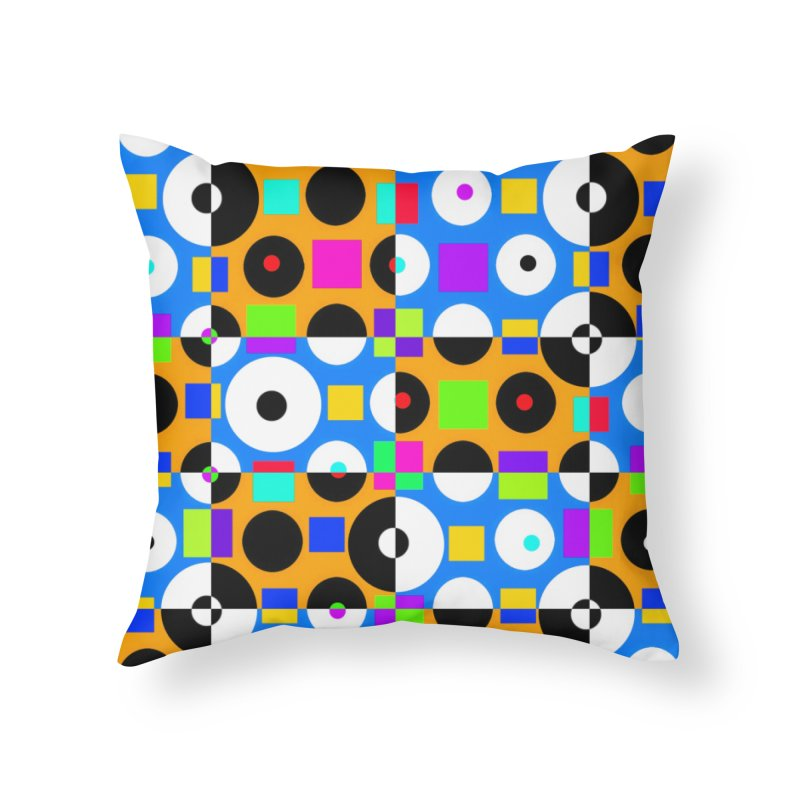 1968 POP DOTS 4 Home Throw Pillow by THE ORANGE ZEROMAX STREET COUTURE