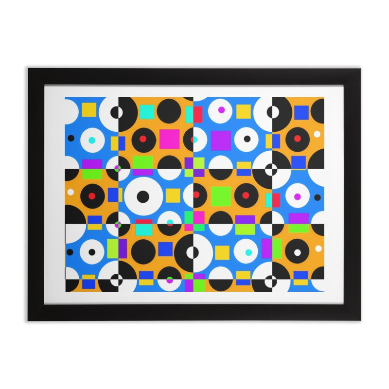 1968 POP DOTS 4 Home Framed Fine Art Print by THE ORANGE ZEROMAX STREET COUTURE