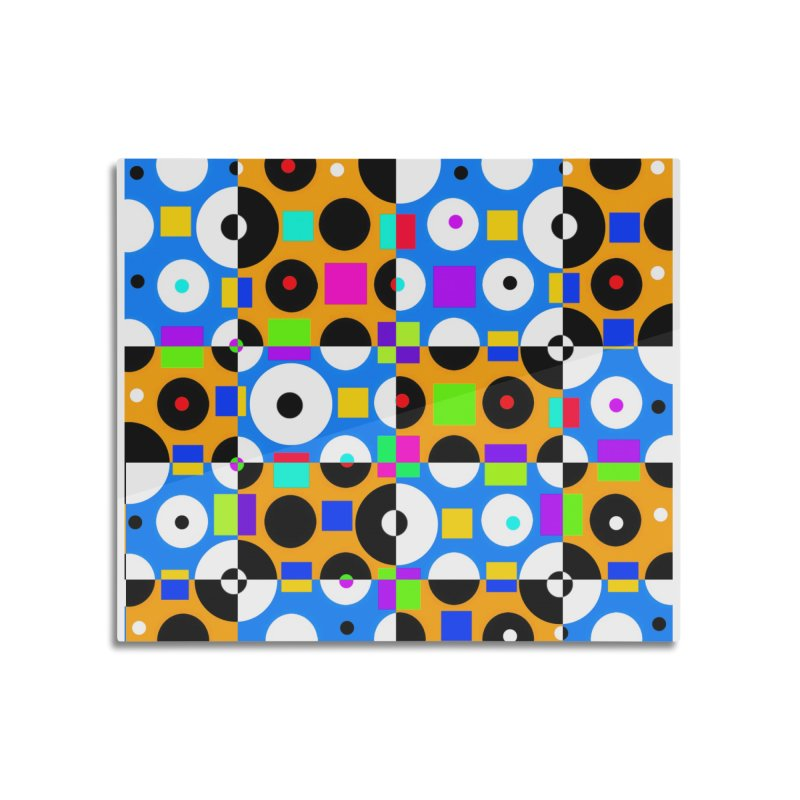 1968 POP DOTS 4 Home Mounted Aluminum Print by THE ORANGE ZEROMAX STREET COUTURE