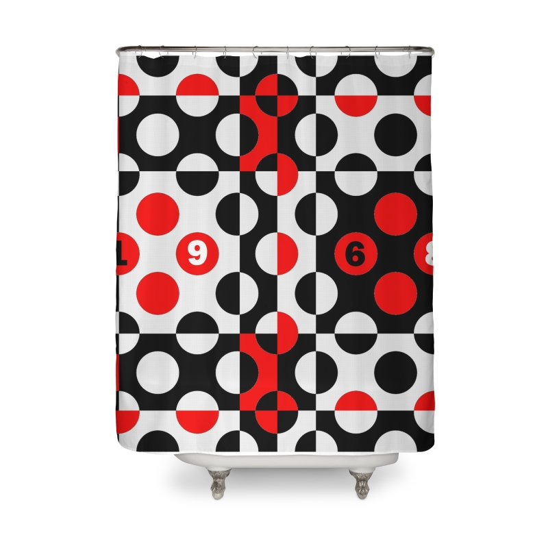 1968 POP DOTS Home Shower Curtain by THE ORANGE ZEROMAX STREET COUTURE