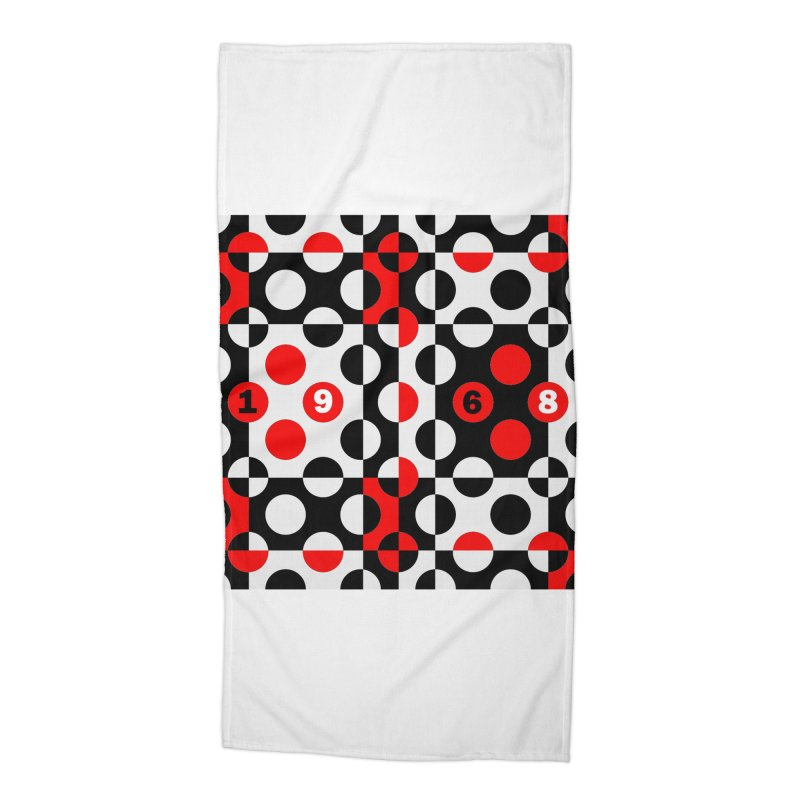 1968 POP DOTS Accessories Beach Towel by THE ORANGE ZEROMAX STREET COUTURE