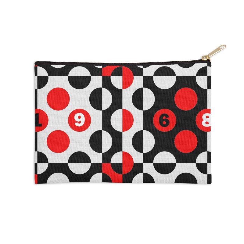1968 POP DOTS Accessories Zip Pouch by THE ORANGE ZEROMAX STREET COUTURE