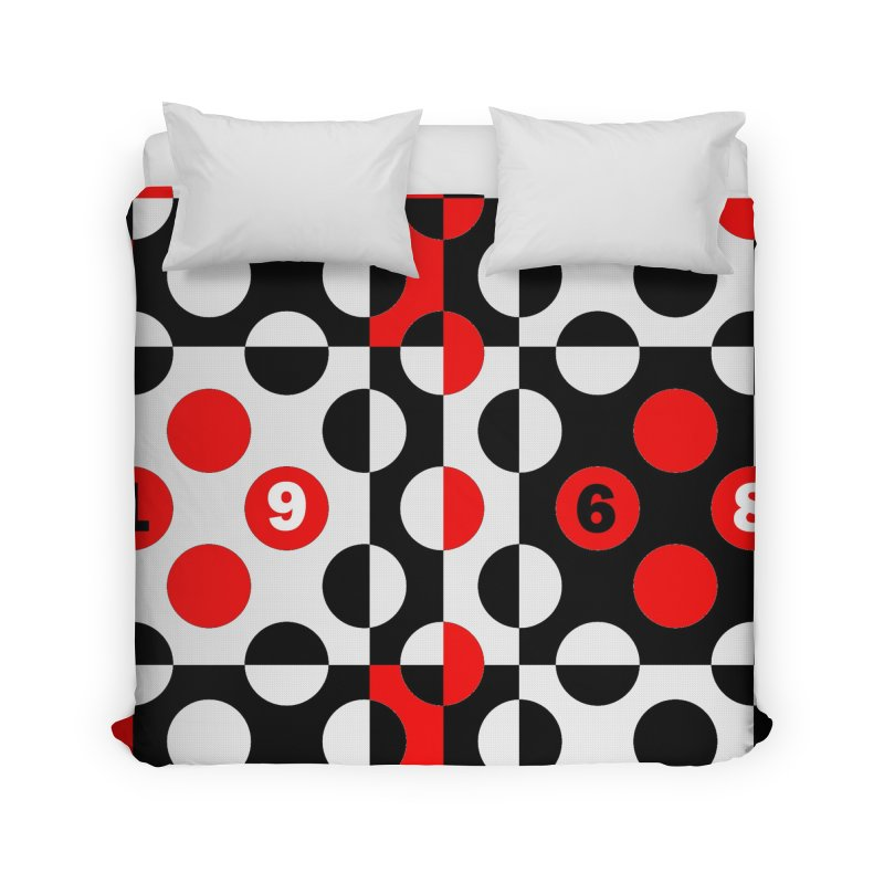 1968 POP DOTS Home Duvet by THE ORANGE ZEROMAX STREET COUTURE
