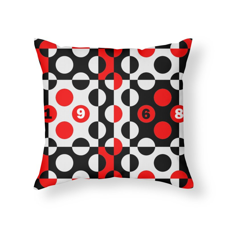 1968 POP DOTS Home Throw Pillow by THE ORANGE ZEROMAX STREET COUTURE