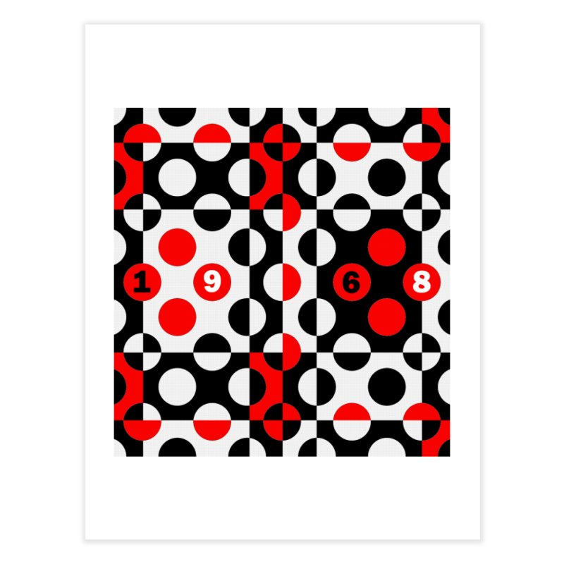 1968 POP DOTS Home Fine Art Print by THE ORANGE ZEROMAX STREET COUTURE