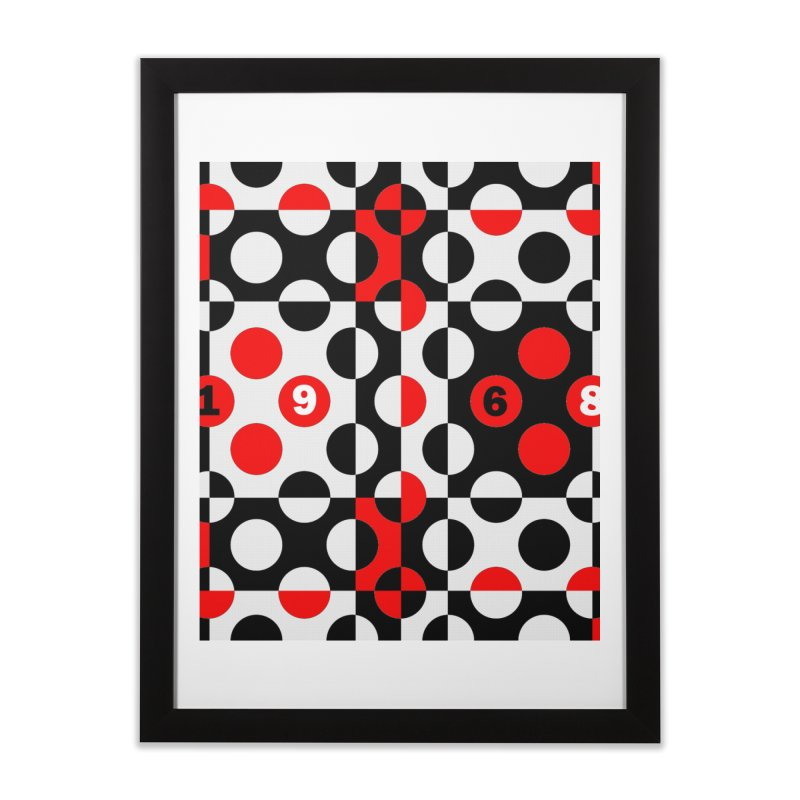 1968 POP DOTS Home Framed Fine Art Print by THE ORANGE ZEROMAX STREET COUTURE