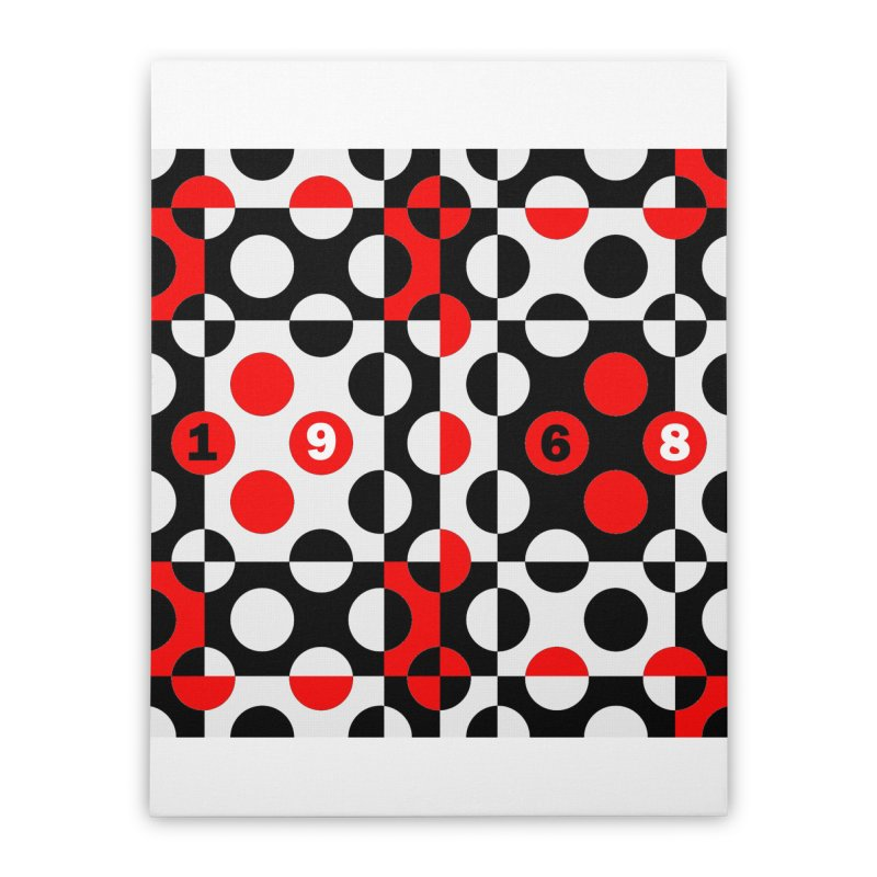 1968 POP DOTS Home Stretched Canvas by THE ORANGE ZEROMAX STREET COUTURE