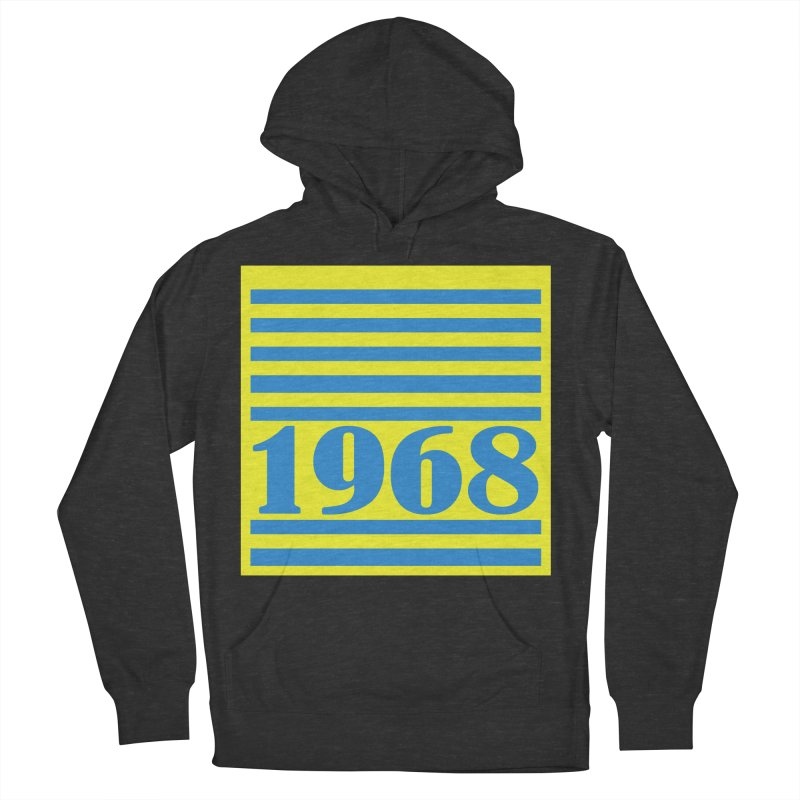 1968 STRIPES-2 Women's French Terry Pullover Hoody by THE ORANGE ZEROMAX STREET COUTURE