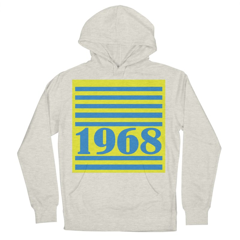 1968 STRIPES-2 Women's Pullover Hoody by THE ORANGE ZEROMAX STREET COUTURE