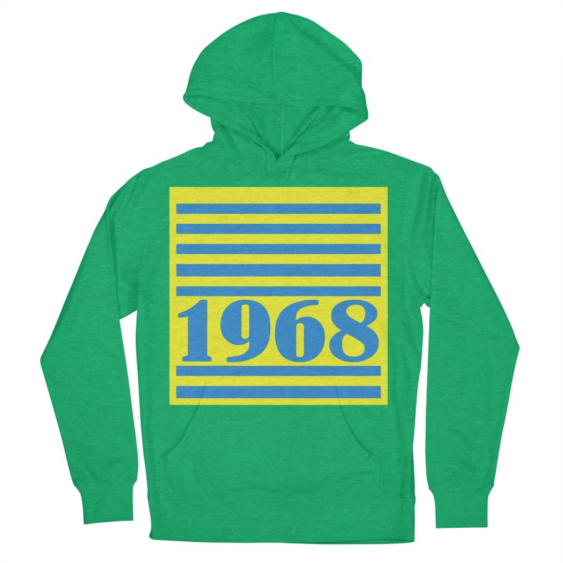 1968 STRIPES-2 Men's French Terry Pullover Hoody by THE ORANGE ZEROMAX STREET COUTURE