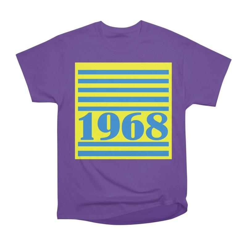 1968 STRIPES-2 Women's Heavyweight Unisex T-Shirt by THE ORANGE ZEROMAX STREET COUTURE