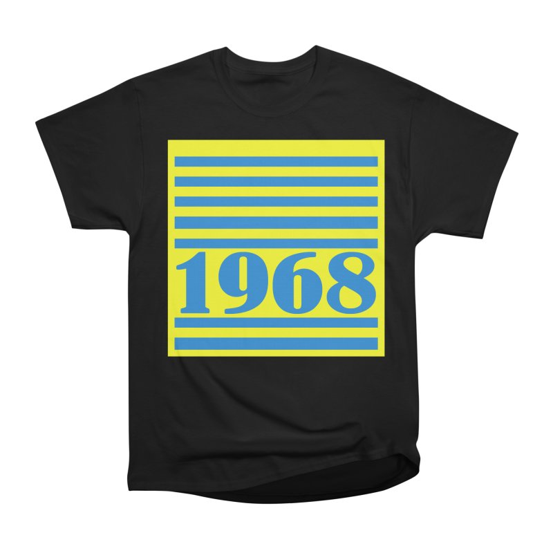 1968 STRIPES-2 Women's Heavyweight Unisex T-Shirt by THE ORANGE ZEROMAX STREET COUTURE