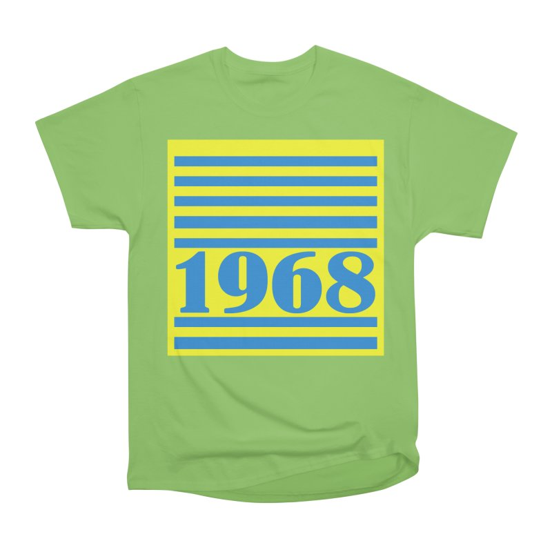 1968 STRIPES-2 Men's Heavyweight T-Shirt by THE ORANGE ZEROMAX STREET COUTURE