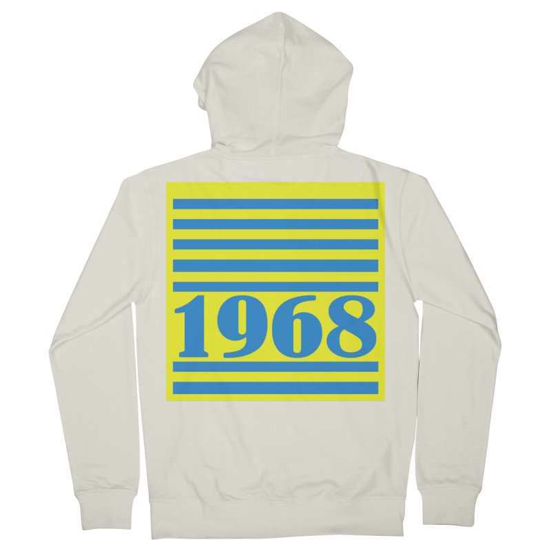 1968 STRIPES-2 Men's French Terry Zip-Up Hoody by THE ORANGE ZEROMAX STREET COUTURE