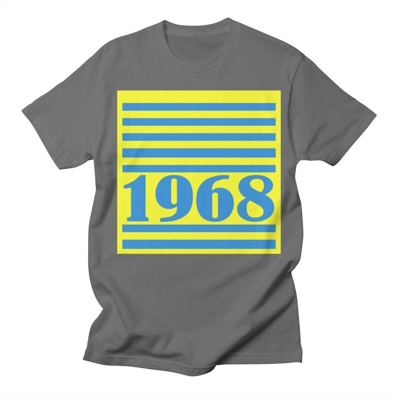 1968 STRIPES-2 Men's Regular T-Shirt by THE ORANGE ZEROMAX STREET COUTURE