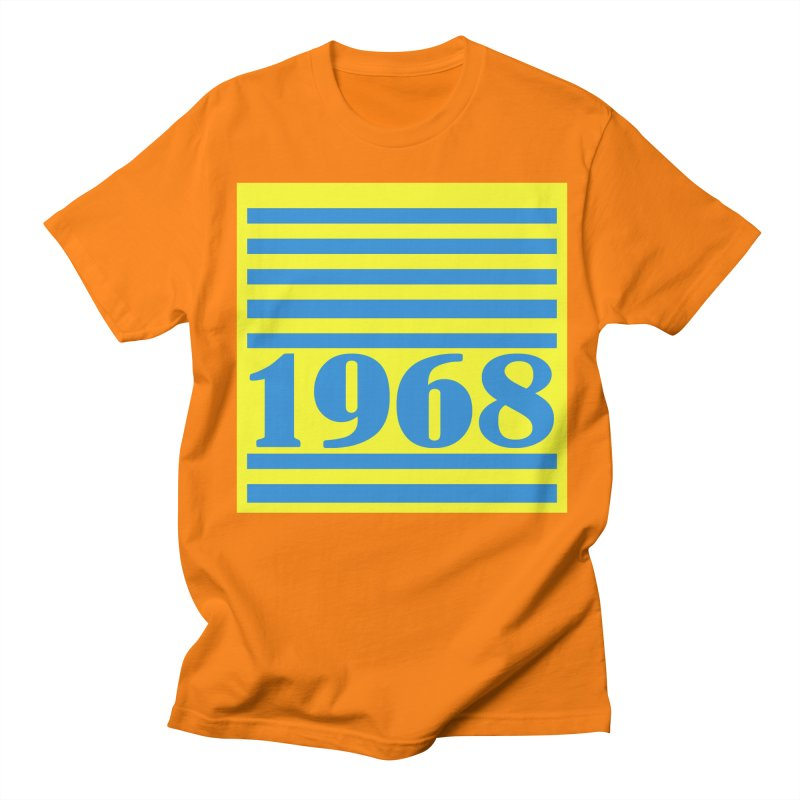 1968 STRIPES-2 Men's Regular T-Shirt by THE ORANGE ZEROMAX STREET COUTURE