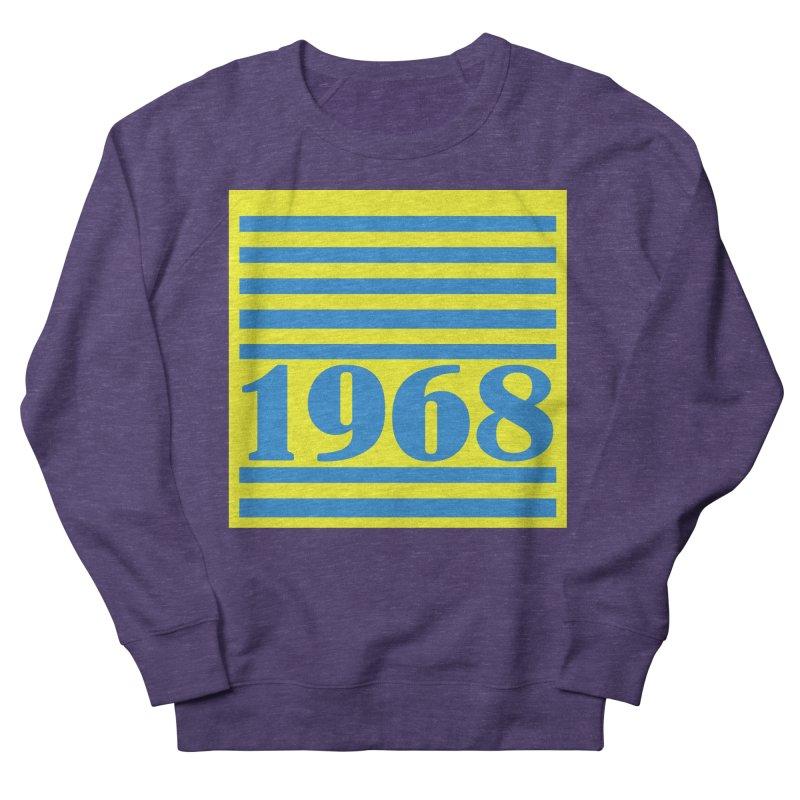 1968 STRIPES-2 Women's French Terry Sweatshirt by THE ORANGE ZEROMAX STREET COUTURE
