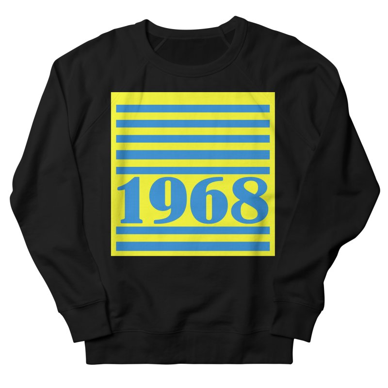 1968 STRIPES-2 Women's French Terry Sweatshirt by THE ORANGE ZEROMAX STREET COUTURE