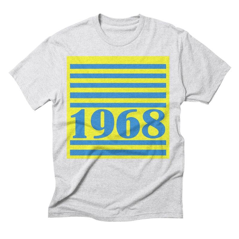 1968 STRIPES-2 Men's Triblend T-Shirt by THE ORANGE ZEROMAX STREET COUTURE