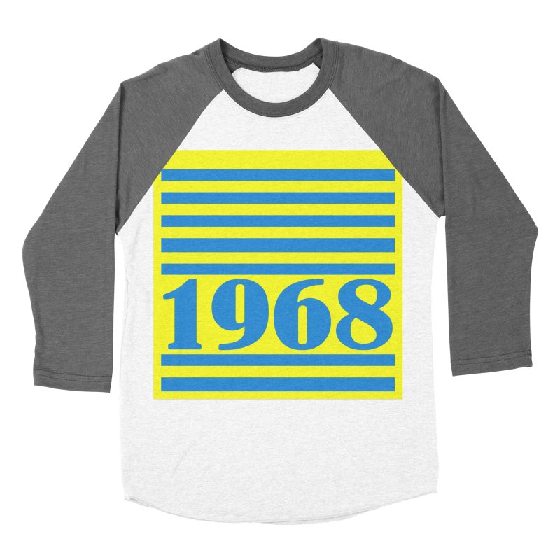 1968 STRIPES-2 Women's Baseball Triblend T-Shirt by THE ORANGE ZEROMAX STREET COUTURE
