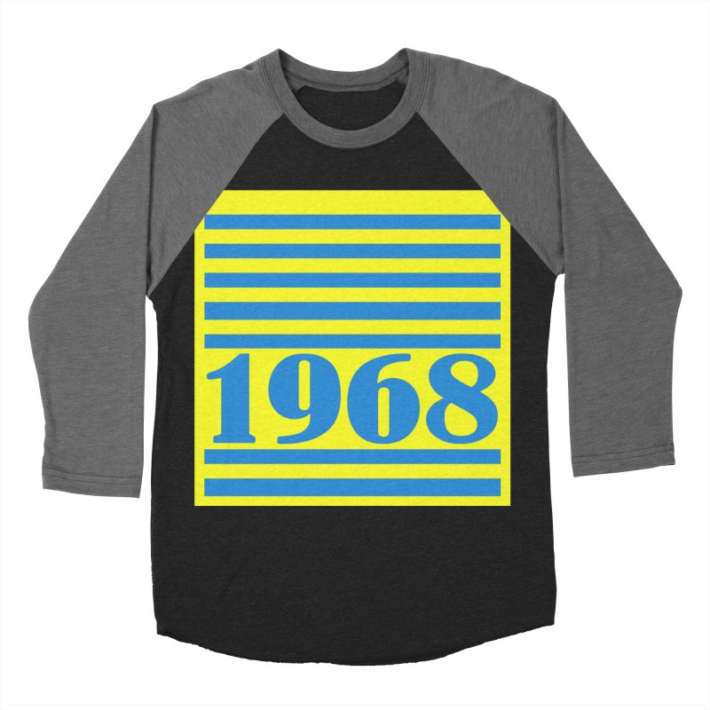 1968 STRIPES-2 Women's Baseball Triblend T-Shirt by THE ORANGE ZEROMAX STREET COUTURE