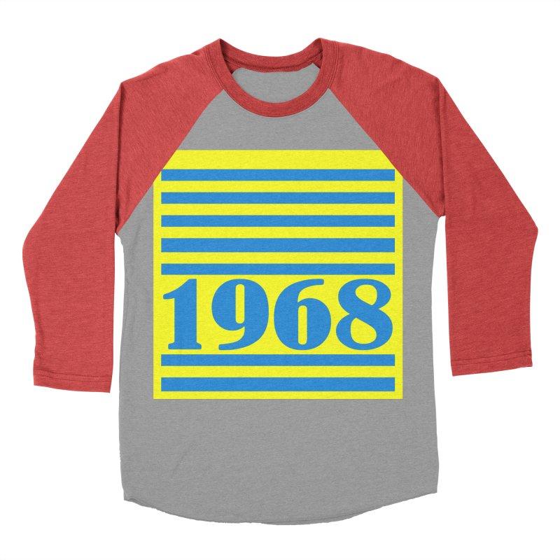 1968 STRIPES-2 Men's Baseball Triblend T-Shirt by THE ORANGE ZEROMAX STREET COUTURE