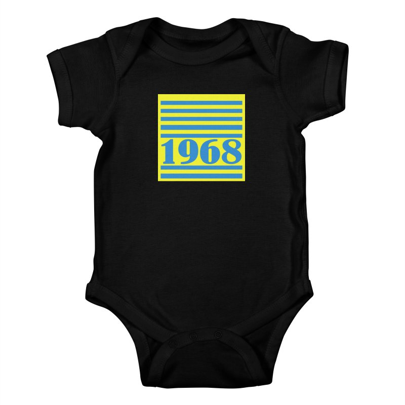 1968 STRIPES-2 Kids Baby Bodysuit by THE ORANGE ZEROMAX STREET COUTURE
