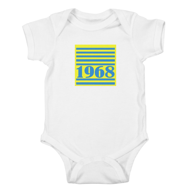 1968 STRIPES-2 Kids Baby Bodysuit by THE ORANGE ZEROMAX STREET COUTURE