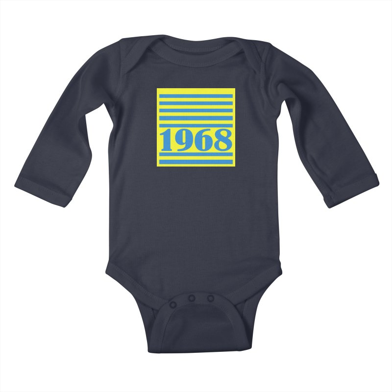 1968 STRIPES-2 Kids Baby Longsleeve Bodysuit by THE ORANGE ZEROMAX STREET COUTURE