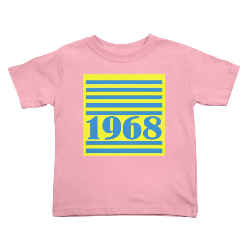 1968 STRIPES-2 Kids Toddler T-Shirt by THE ORANGE ZEROMAX STREET COUTURE