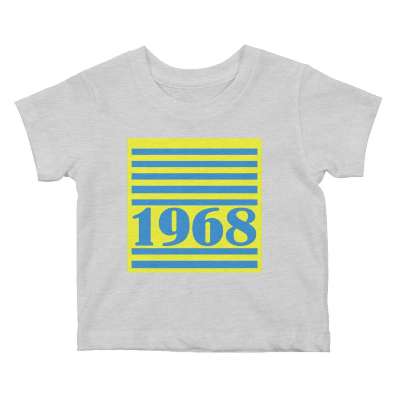 1968 STRIPES-2 Kids Baby T-Shirt by THE ORANGE ZEROMAX STREET COUTURE