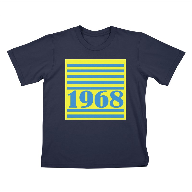 1968 STRIPES-2 Kids T-Shirt by THE ORANGE ZEROMAX STREET COUTURE