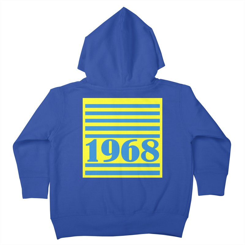 1968 STRIPES-2 Kids Toddler Zip-Up Hoody by THE ORANGE ZEROMAX STREET COUTURE
